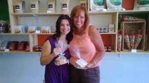 Pia Maffei (L) with Rocco's Biscotti founder