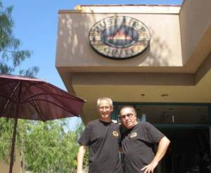 Bushfire Grill Owners, Clive and Brandon Barwin