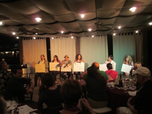 Audience interviews the cast with pointed questions