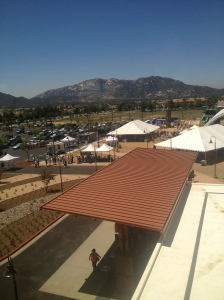 Looking down on events of the day from the third floor of Temecula Valley Hospital.