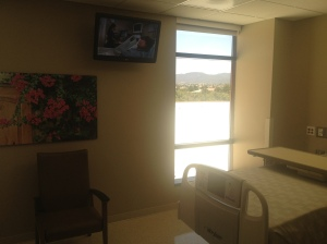 ICU rooms with beautiful artwork, as well as vista views of Temecula.