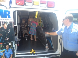 """This is the one and day I'm happy to see them in an ambulance!"" said one family."