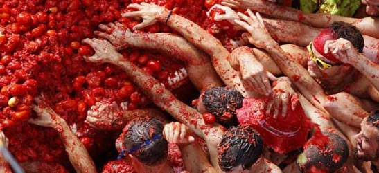 La Tomatina in Bunol, Spain