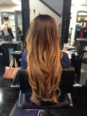 Ombré with blonde extensions by Aly Castillo