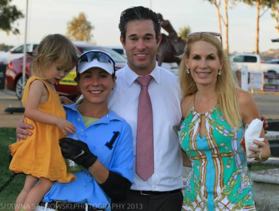 Peggy Tanous (r) with Burke, Geraldine Strunsky,  at Temecula Valley Polo club 2013 (c) Shawna Sarnowski