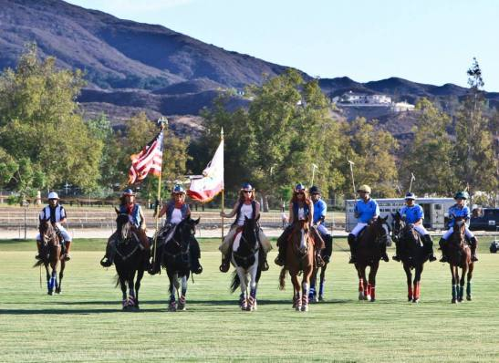 Temecula Valley Polo Club and the Cowgirl Color Guard at opening day, 2013