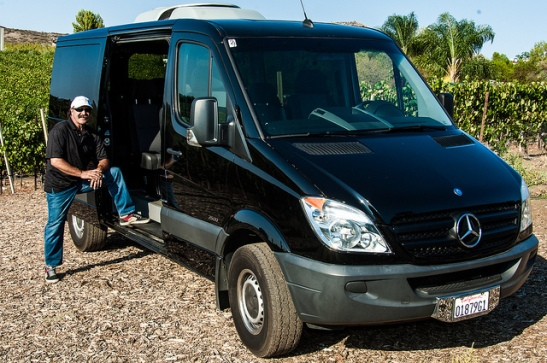 Temecula's Winemaker's Tours - Mercedes luxury tour van.
