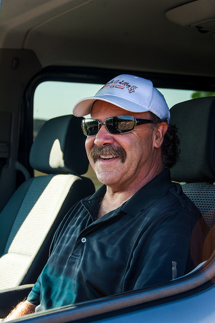 Winemaker Limousine Tours owner, Larry Coco behind the wheel.