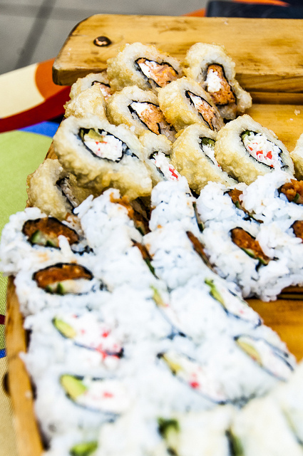 Sushi provided by Sushi Boat, Promenade Temecula (c) Crispin Courtenay