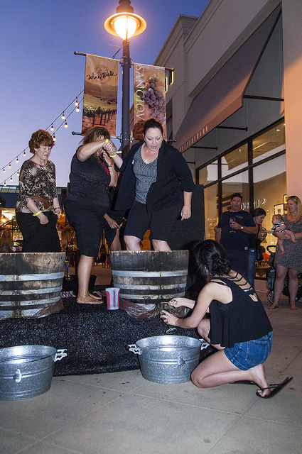 Contestants stomping furiously to fill their glasses (c) Crispin Courtenay