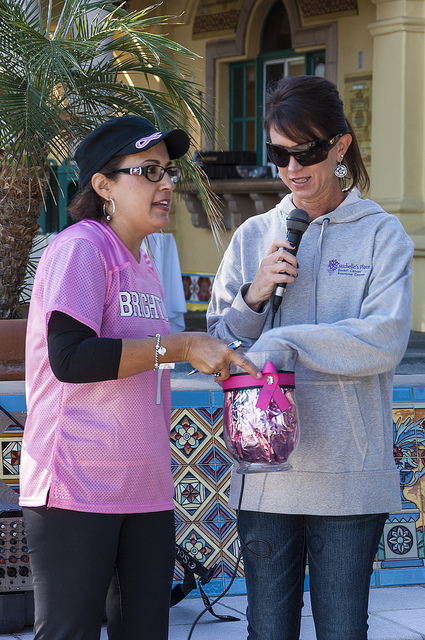 Calling raffle numbers at Celebration of Life Golf Tournament, Temecula (c) Crispin Courtenay