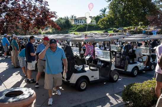 Golf Carts sponsored for Michelle's Place Celebration of Life Tournament 2013 (c) Crispin Courtenay