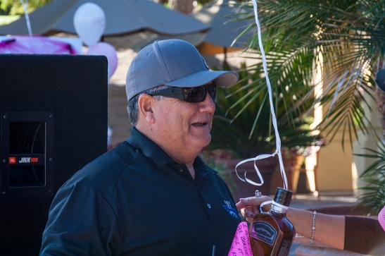 Raffle winner at Celebration of Life Golf Tournament, Temecula (c) Crispin Courtenay