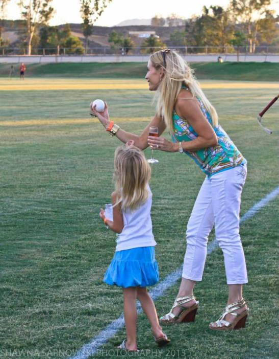 Real Housewives of Orange County throws out the ball for Temecula Valley Polo Club (c) Shawna Sarnowski