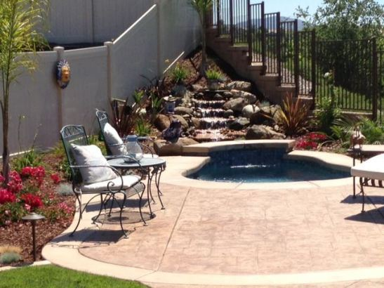 Spool -- or Spa Pool -- allows homeowners that special splash without the maintenance of a full sized pool, in Temecula