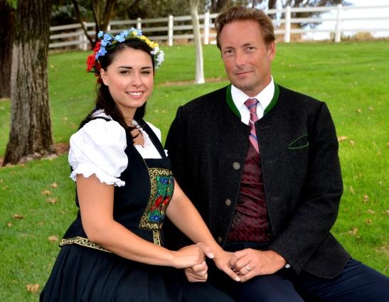 Maria (Barbara Chiofalo) & Capt. Georg Von Trapp (Tim Harvey)