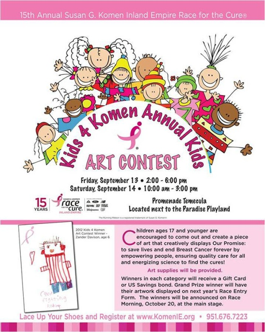 Kids 4 Komen annual art contest at Promenade Temecula