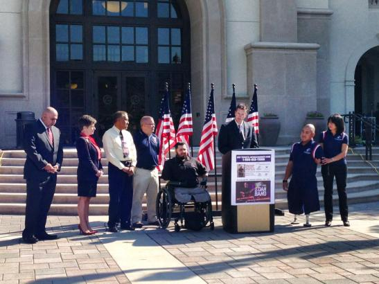 Gary Sinise Foundation and Tunnel To Towers Foundation announce smart home for Ssg. Matt Lammers in Temecula, 9/11/2013