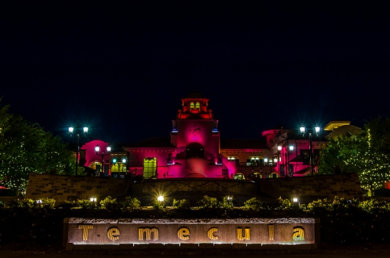 Temecula California City Hall goes Pink in October 2013 (c) Crispin Courtenay
