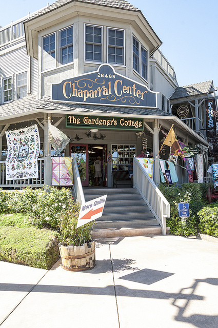 Chaparral Store with quilts (c) Crispin Courtenay