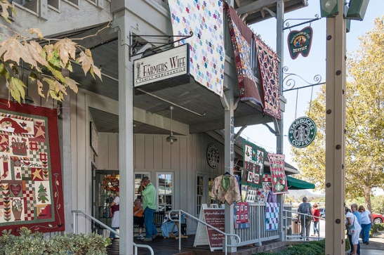 Blustery winds blow at Farmer's Wife in Old Town Temecula Quilt Festival (c) Crispin Courtenay
