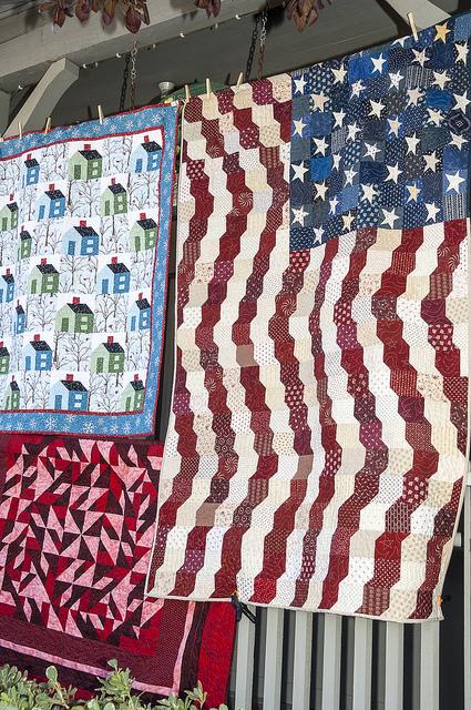 American Flag Quilt (c) Crispin Courtenay