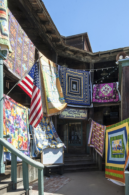 Colors of quilts in Old Town Temecula (c) Crispin Courtenay