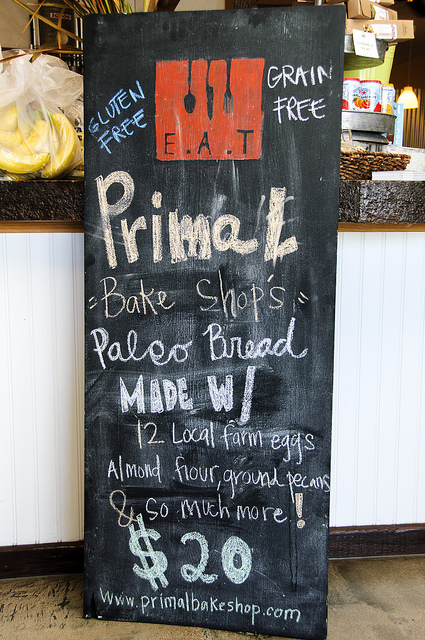 Primal Cravings Paleo Bread offered at E.A.T. Marketplace Temecula (c) Crispin Courtenay