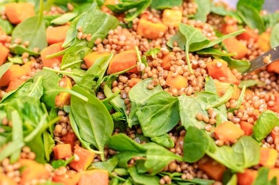 Quinoa arugala salad at E.A.T. Marketplace Temecula (c) Crispin Courtenay