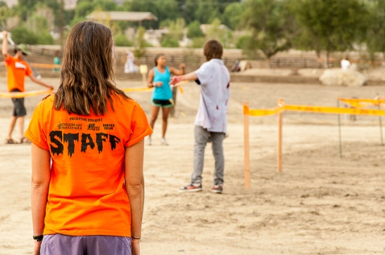 Event staff watching zombies making sure all behave in family friendly event in Temecula (c) Crispin Courtenay