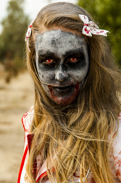Zombie Runner up close with professional makeup in Temecula (c) Crispin Courtenay