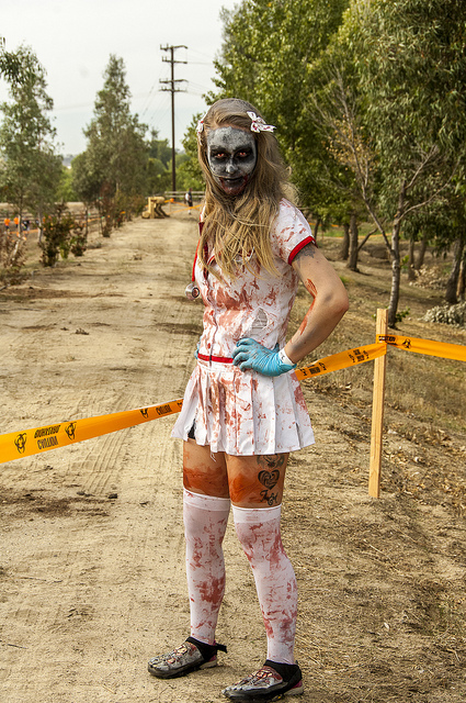Zombie Runner at Boojum Zombie Fun run - in Temecula (c) Crispin Courtenay