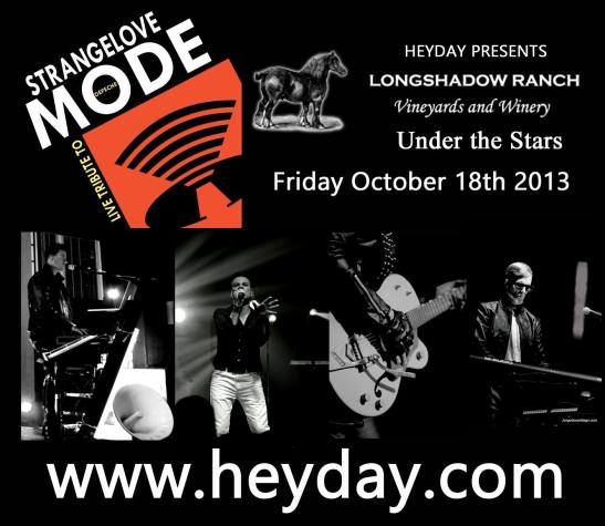 Strangelove Depeche Mode Tribute Band coming to Longshadow Ranch Winery