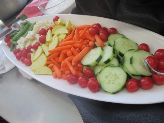 Crudités at AJs baking party in Temecula