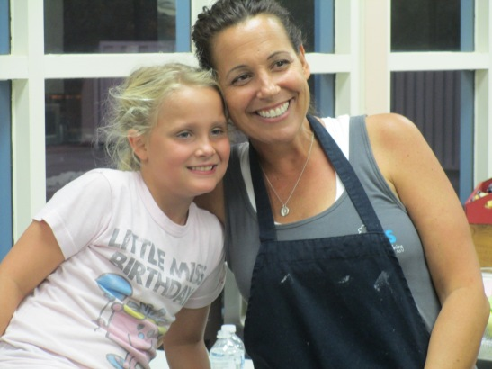 Birthday Girl's best day -- tiny bakers love to learn from Andrea Maue of AJs Baking Company