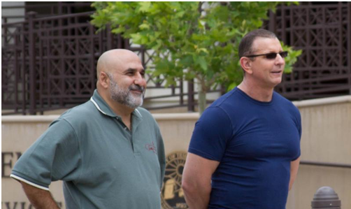 Mike Naggar with Robert Irvine for Restaurant Express in Old Town Temecula