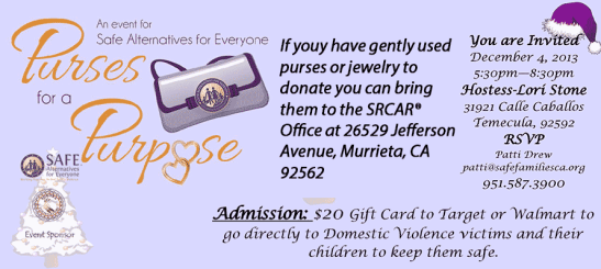 Purses with Purpose for S.A.F.E. Families, CA