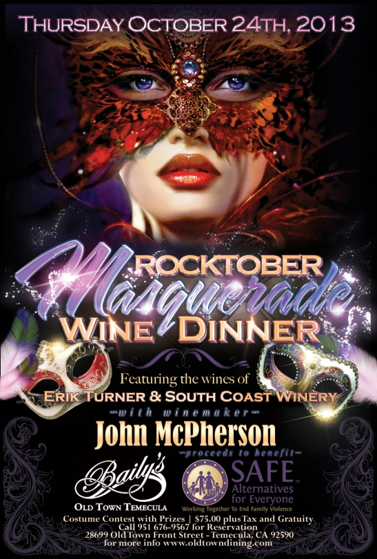 Rocktober Masquerade at Baily's with Jon McPherson and Erik Turner Oct. 24, 2013