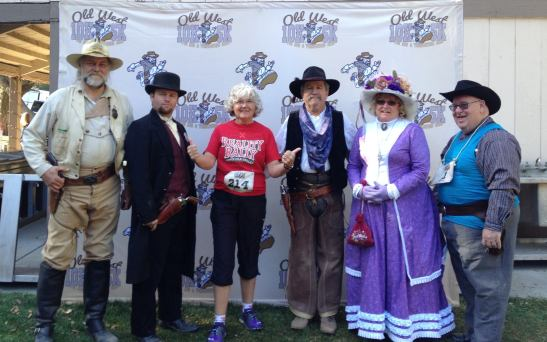 Gillian Larson and Temecula Gun Fighters at Old West Race (courtesy photo)