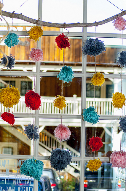 Pom garland in signature Kindred Work + Shop colors(c) Crispin Courtenay
