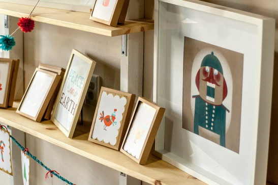 Nutcracker art, plus other paper designs available at Kindred Work + Shop (c) Crispin Courtenay