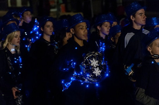 Light up the band in Temecula Christmas Parade 2013  (c) Crispin Courtenay