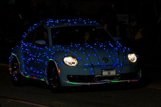 VW Club in lights  (c) Crispin Courtenay
