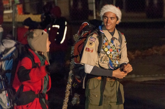 Scouts take part in Temecula Christmas Parade 2013  (c) Crispin Courtenay