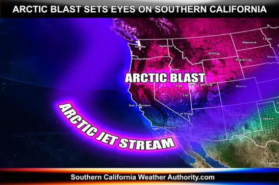 Arctic blast prediction by SCWA
