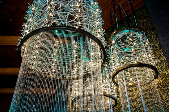 Rain curtain in Pechanga Resort and Casino in Temecula (c) Crispin Courtenay