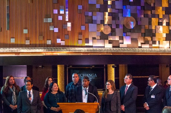 Pechanga Ribbon Cutting for Grand Entrance Renovation completion (c) Crispin Courtenay