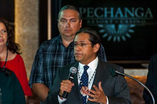 Pechanga Tribal Chairman Mark Macarro (c) Crispin Courtenay