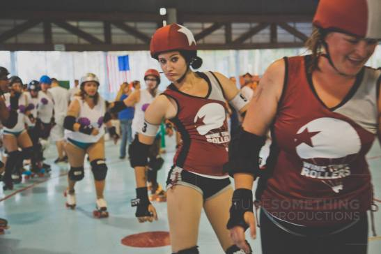 Breaking Dawn, just one of the entertaining Roller Derby player names at Roller Derby Bouts (courtesy)