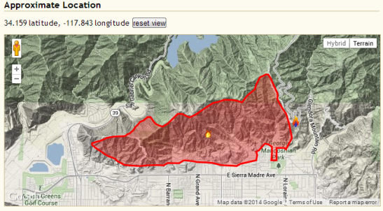 Colby Fire Updates 1-17-2014, 9:15 a.m. pacific time